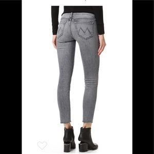 MOTHER denim high waisted looker ankle fray jeans
